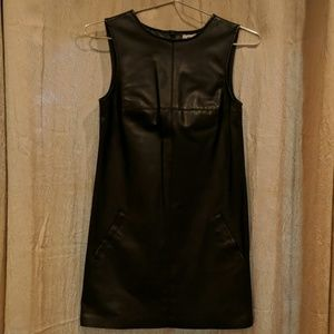 BB Dakota - Black Faux Leather Dress
